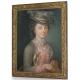 """Pastel """"Portrait de femme""""."""