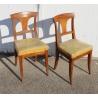 Paire de chaises Directoire à palmettes
