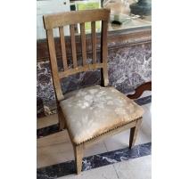 Chaise Directoire à barreaux assise basse