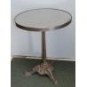 Table de bistro ronde, plateau en métal