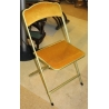 Chaise pliable CHAISOR velours jaune
