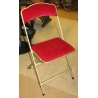 Chaise pliable CHAISOR velours rouge