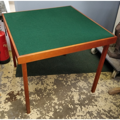 Table de bridge pliable en merisier