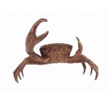 Crabe pince droite plus grande en bronze