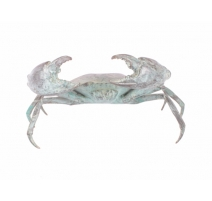 Crabe patine verte en bronze