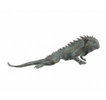 Iguane en bronze