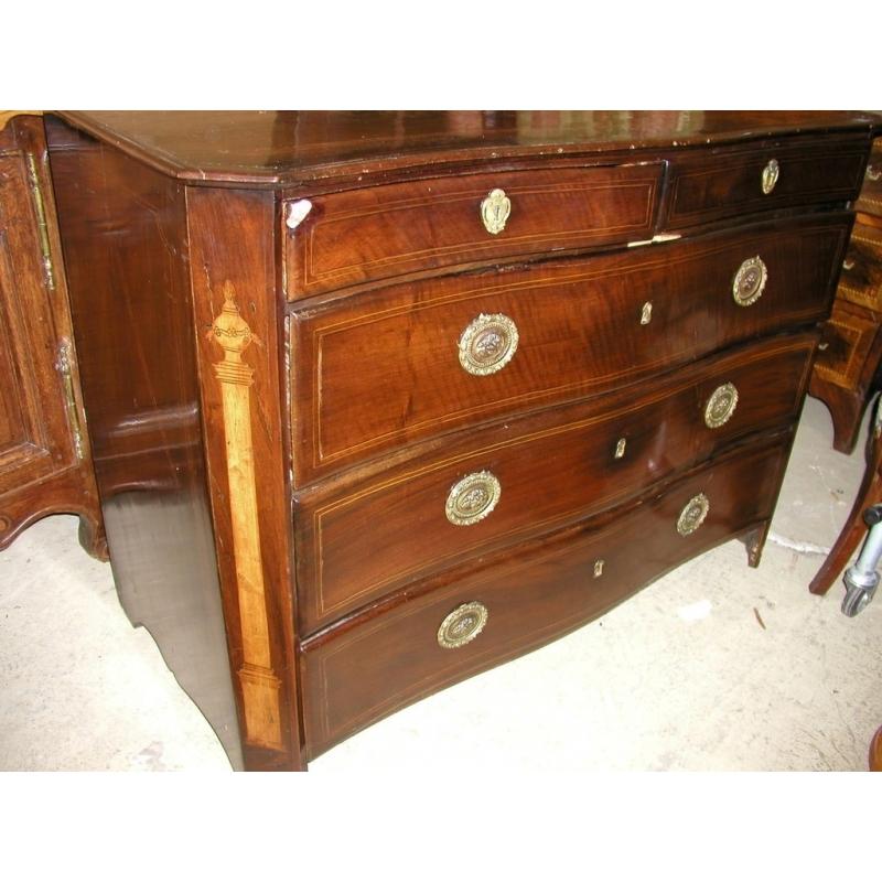 commode avec 5 tiroirs sur moinat sa antiquit s d coration. Black Bedroom Furniture Sets. Home Design Ideas
