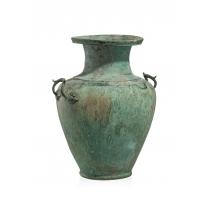 Amphore à col de style étrusque en bronze