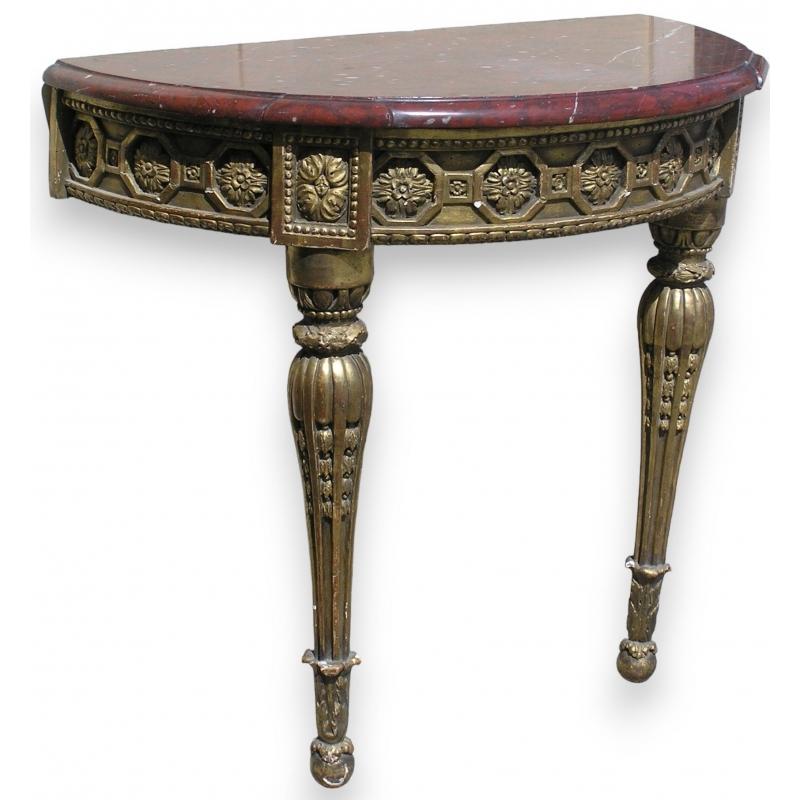 console demi lune sur moinat sa antiquit s d coration. Black Bedroom Furniture Sets. Home Design Ideas
