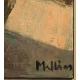 """Tableau """"Reserve de bois"""" signé MAFLI"""