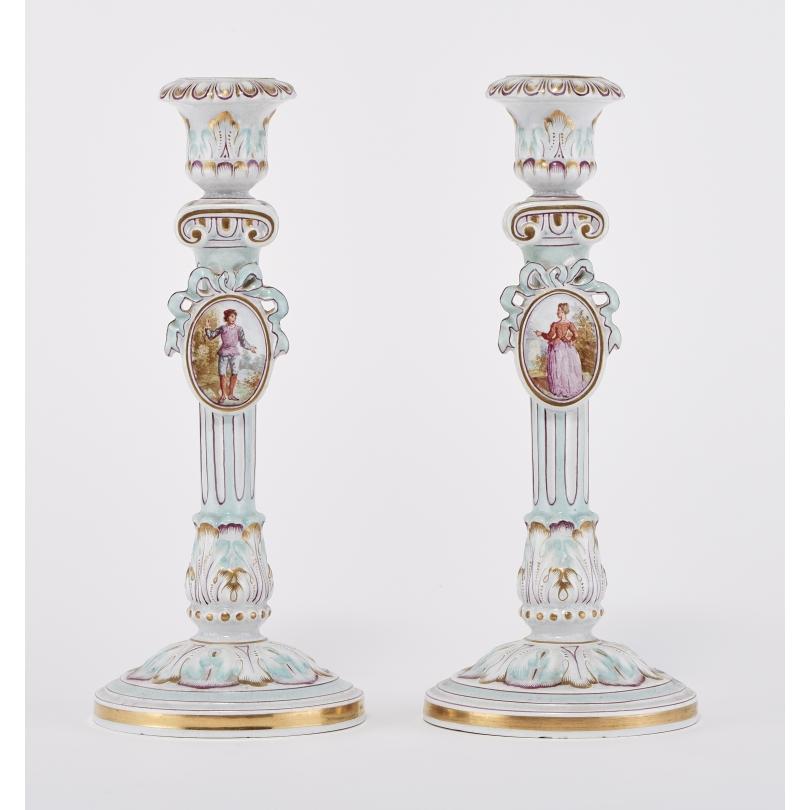Paire de chandeliers signés Majorelle
