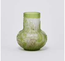 Vase bulbe vert signé GALLÉ