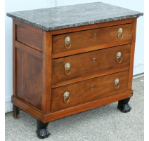 Empire commode with 3 drawers.