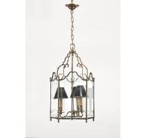 Lanterne style Louis XV pentagonale en bronze