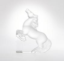 """Presse-papier Lalique Cheval cabré """"Kazak"""""""