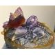 Bol couvert à décor d'un papillon signé DAUM