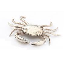 Crabe en métal argenté, pour Nella Longari