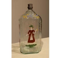 """Bouteille en verre dite """"Flüeli"""" décor Bergère"""
