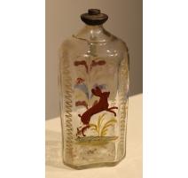 """Bouteille en verre dite """"Flüeli"""" décor Lapin"""