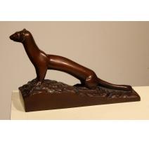 """Bronze """"Hermine"""" signé R. HAINARD"""