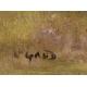 """Tableau """"Vue d'un verger"""" signé L. GAUD"""
