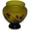 Vase Gallé, jaune-brun