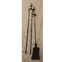 A shovel and a clip Board in wrought iron, nickel plated
