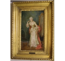 """Painting """"Lady"""" signed TH.LEVI"""