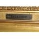 """Tableau """"Femme"""", signé TH.LEVIGNE"""