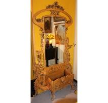 Jardinière style Art-Nouveau avec miroir