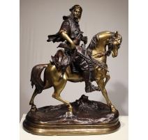 """Bronze """"Cavalier arabe"""" d'après BARGE Fils"""