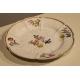 Assiette de Meissen, décor fleurs