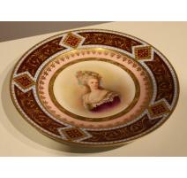 """Assiette de Vienne """"Princesse de Lamballe"""""""