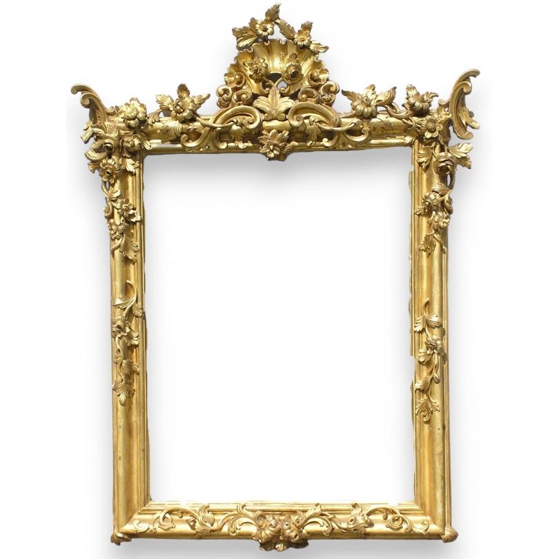 Miroir baroque sur moinat sa antiquit s d coration - Miroir sur pied baroque ...