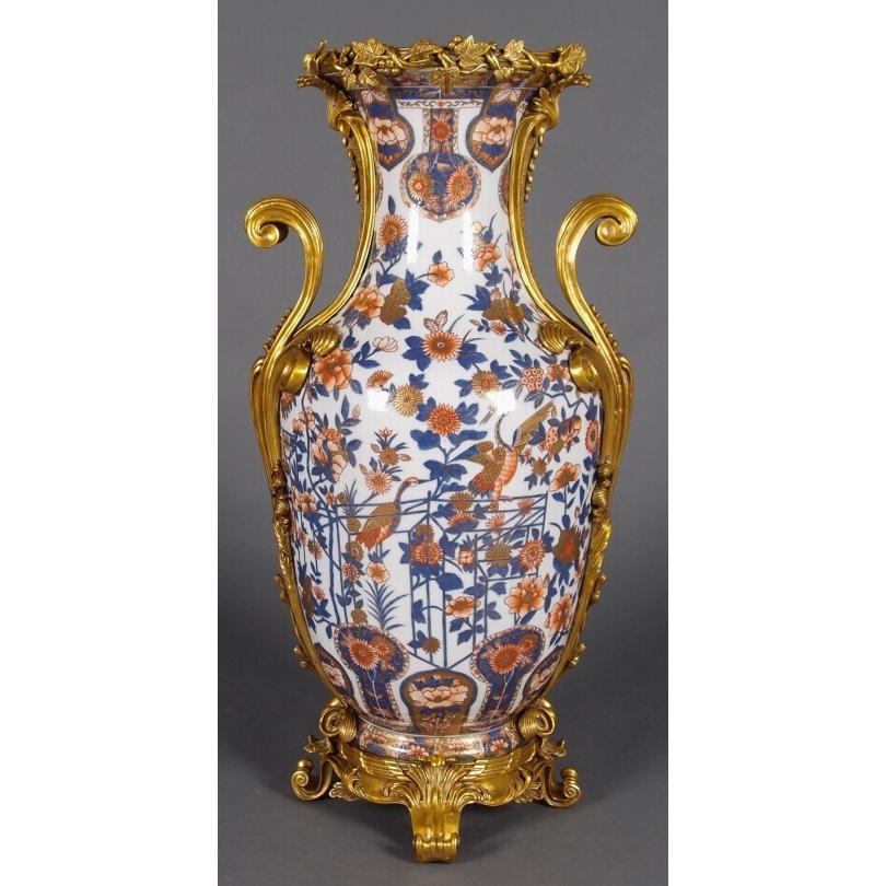 Vase en porcelaine Imari aux oiseaux