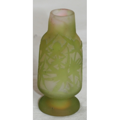 Vase de Gallé, vert.