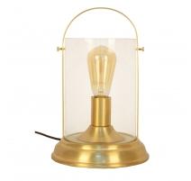 Lampe Loctudy en métal doré et globe en verre
