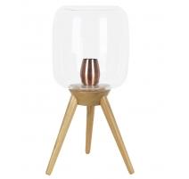 Lampe Filtone-L en bois et globe en verre