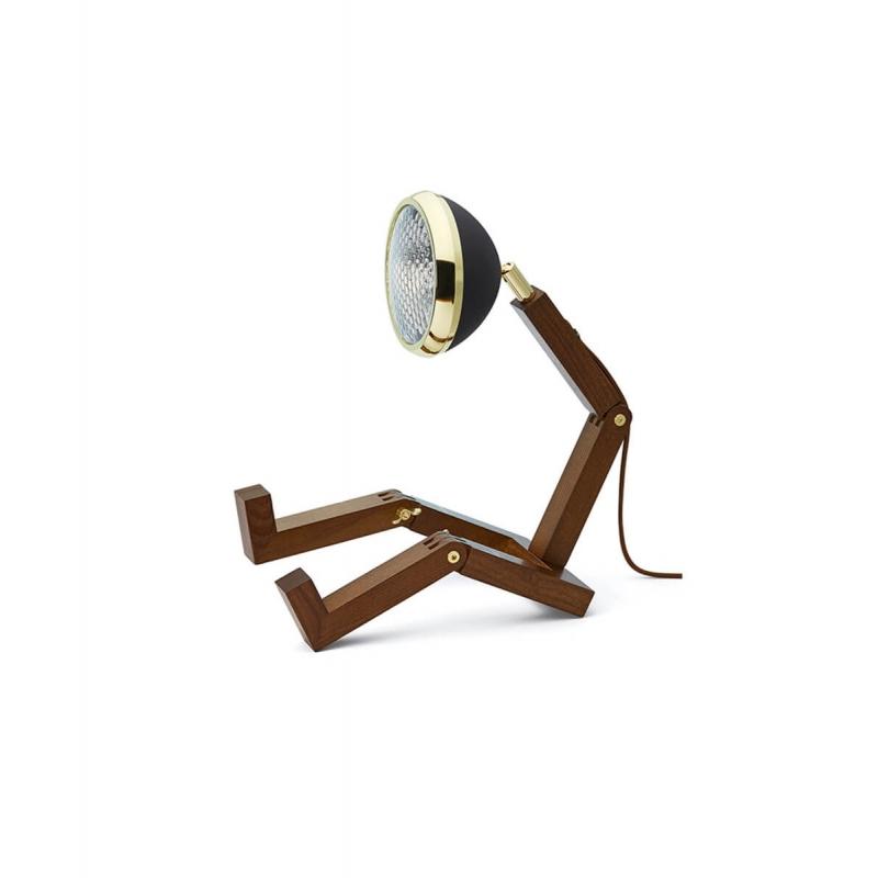 Lampe Mr. Wattson Noir mat et doré   Moinat SA   Antiquités décoration