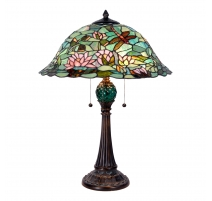 Lampe style Tiffany Libellules et Nénuphares