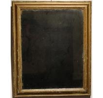 Miroir cadre simple en bois doré, glace au mercure