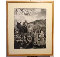 "Photographie ""Jeune marocain sur un âne"""