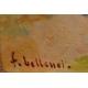"Tableau ""Remparts de la médina"" signé BELLENOT"