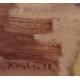 """Tableau """"Jouets"""" signé H. WEBER 33"""