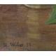 """Tableau """"Muguet"""" signé H. WEBER 52"""