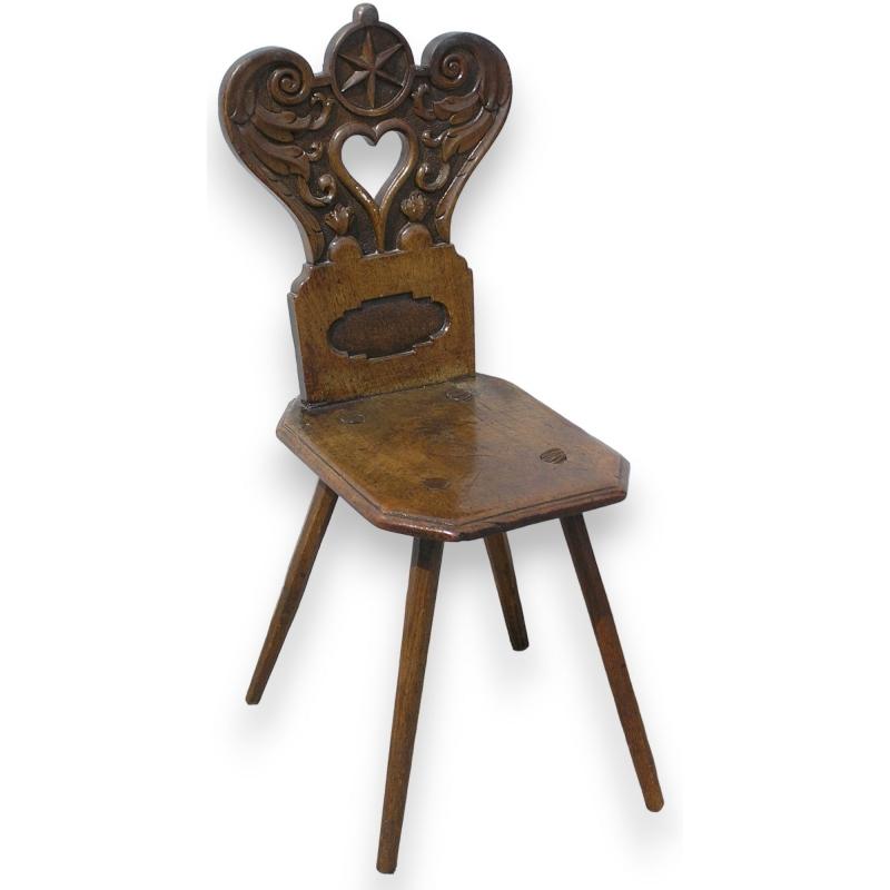 chaise scabelle louis xiii sur moinat sa antiquit s d coration. Black Bedroom Furniture Sets. Home Design Ideas