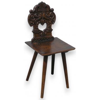 chaise scabelle louis xiii sur moinat sa antiquit s. Black Bedroom Furniture Sets. Home Design Ideas