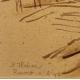 """Dessin """"Ronco sopra Ascona"""" signé H. WEBER 47"""