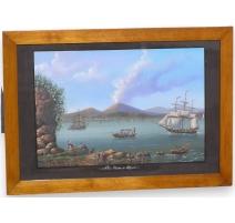 """Gouache """"View of Naples, Napol"""