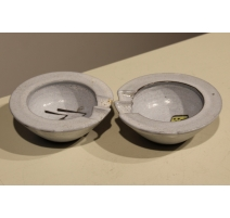 Pair of ashtray, moroccan ceramic